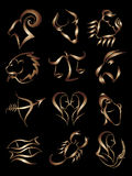 Sinais da estrela do zodíaco Fotos de Stock