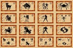 Sinais da estrela do zodíaco Fotos de Stock Royalty Free