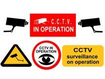 Sinais da fiscalização do CCTV Fotografia de Stock Royalty Free