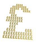 Sinais da libra do ouro Imagem de Stock Royalty Free
