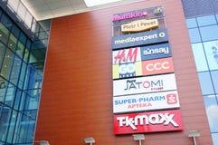 Sinais da loja e das lojas Imagem de Stock Royalty Free