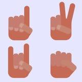 Sinais da mão Imagem de Stock Royalty Free