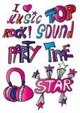 Sinais da música rock Fotografia de Stock Royalty Free