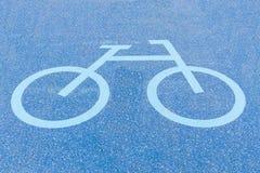 Sinais da pista da bicicleta Foto de Stock
