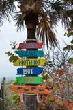 Sinais da praia de Florida Fotografia de Stock Royalty Free