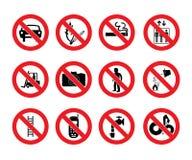 Sinais da proibição Imagens de Stock Royalty Free