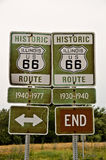 Sinais da rota 66 de Illinois Foto de Stock