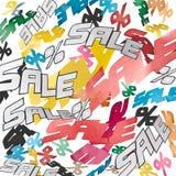 Sinais da venda e de por cento do fundo da colagem Fotos de Stock