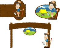 Sinais de acampamento Imagens de Stock