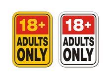 18 sinais de adição para adultos somente Fotos de Stock Royalty Free