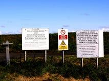 Sinais de aviso da modificação, a lavagem, Lincolnshire Imagens de Stock Royalty Free