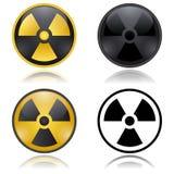 Sinais de aviso da radioatividade Ilustração Royalty Free