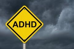 Sinais de aviso de ADHD Fotos de Stock Royalty Free