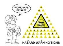 Sinais de aviso do perigo Imagens de Stock Royalty Free