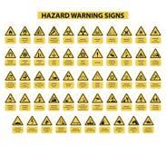 Sinais de aviso do perigo Fotos de Stock Royalty Free