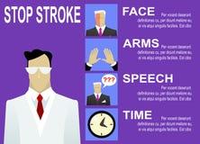 Sinais de aviso e sintomas do curso Fotos de Stock