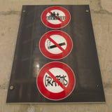 Sinais de aviso em França Fotografia de Stock