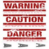 Sinais de aviso resistidos ilustração stock