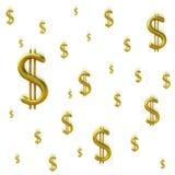 Sinais de dólar de queda Fotos de Stock