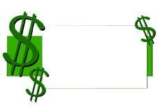 Sinais de dólar do dinheiro e do dinheiro Foto de Stock Royalty Free