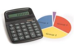 Sinais de dólar na calculadora Foto de Stock