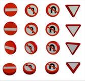 sinais de estrada 3D Fotografia de Stock Royalty Free