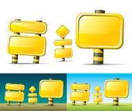 Sinais de estrada amarelos Imagem de Stock