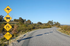 Sinais de estrada australianos Imagem de Stock
