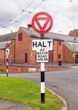 sinais de estrada britânicos dos anos 40 Imagem de Stock