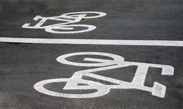 Sinais de estrada da bicicleta Imagens de Stock Royalty Free