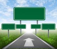 Sinais de estrada da estratégia Imagens de Stock
