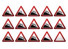 Sinais de estrada da porcentagem Foto de Stock