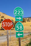 Sinais de estrada de Califórnia Imagens de Stock