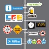 Sinais de estrada diferentes Foto de Stock Royalty Free