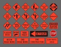Sinais de estrada dos trabalhadores