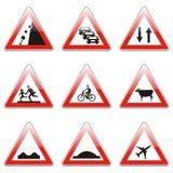 Sinais de estrada europeus isolados ilustração do vetor