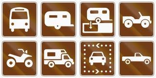 Sinais de estrada informativos do Estados Unidos MUTCD ilustração royalty free