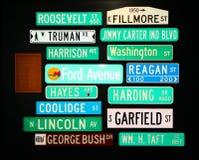 Sinais de estrada presidenciais Fotos de Stock Royalty Free