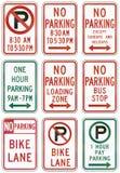 Sinais de estrada reguladores do Estados Unidos MUTCD Imagens de Stock Royalty Free