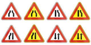 Sinais de estrada usados em Eslováquia Fotografia de Stock Royalty Free