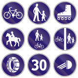Sinais de estrada usados em Eslováquia Imagens de Stock Royalty Free