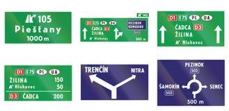 Sinais de estrada usados em Eslováquia Imagem de Stock Royalty Free
