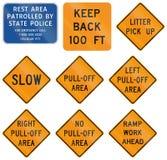 Sinais de estrada usados no estado de E.U. de Virgínia ilustração do vetor