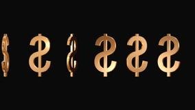 Sinais de flutuação do dólar americano ilustração royalty free