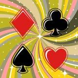 Sinais de jogo dos cartões ajustados Foto de Stock