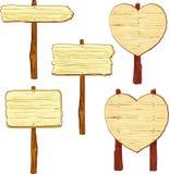 Sinais de madeira Imagens de Stock Royalty Free