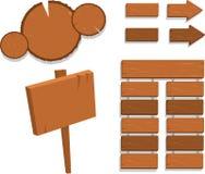 Sinais de madeira ilustração stock