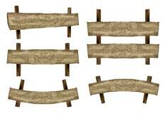 5 sinais de madeira Fotografia de Stock