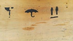 Sinais de madeira da caixa da entrega Imagem de Stock
