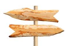 Sinais de madeira da seta dos sentidos Imagem de Stock Royalty Free